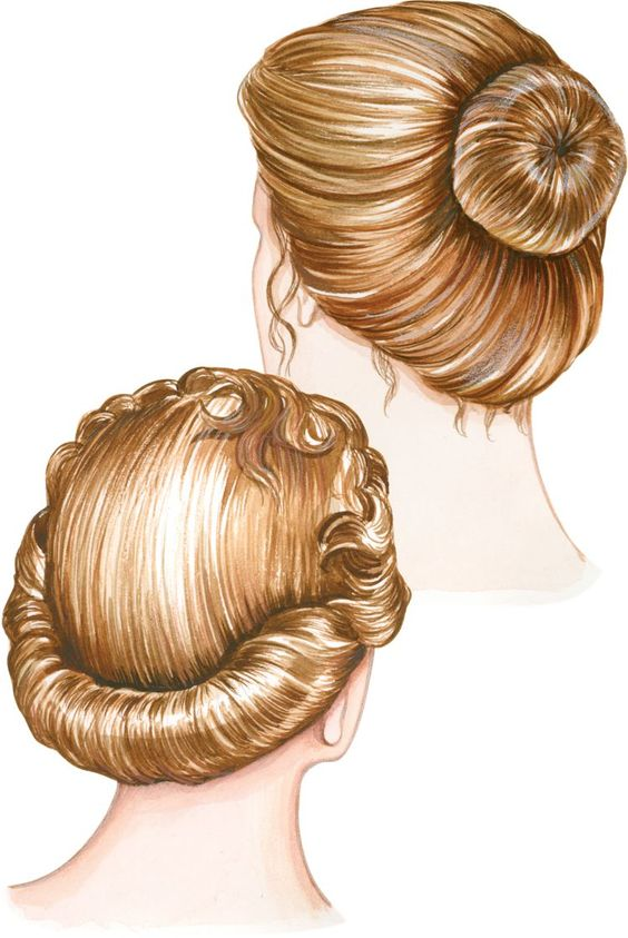 ". A French roll is almost impossible to do by yourself without this spongy nylon mesh hair-roll form. Simply wrap hair over the 9"" form, roll up, and secure with hairpins. This versatile hair-roll form also features a snap so you can use it for a loose chignon or bun. The doughnut-shaped hair ""rat"" is the secret to perfect buns in an instant—just pull hair through the hole, arrange over the 3½"" nylon mesh form, and secure with hairpins."