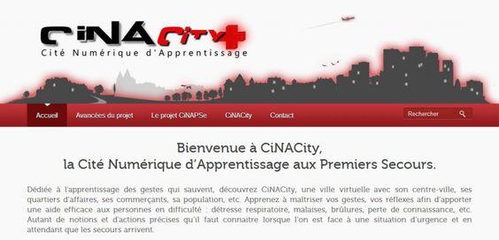 Le site du projet CiNAPSe Cité Numérique d'Apprentissage aux Premiers Secours) enfin en ligne !