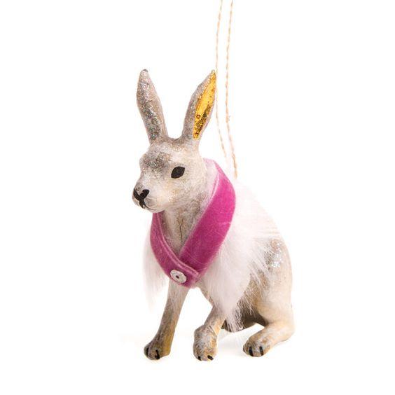 Winter Hare Ornament - Her