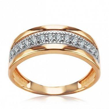 pierścionek białe i żółte złoto