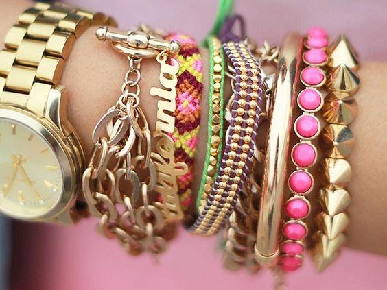 Arm Candy Pink bracelets