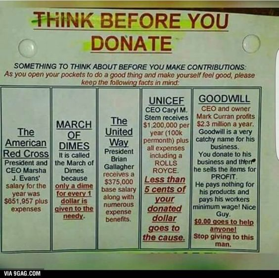 When a large non-profit morphs into a corporation it becomes the well-known donation center names we know.