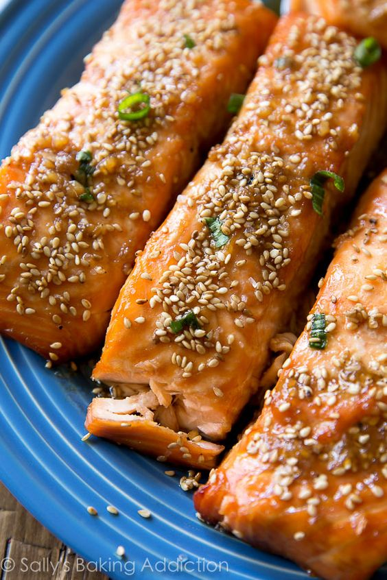 Flavor-packed and healthy 6 ingredient easy maple sesame salmon is on the table in only 35 minutes!