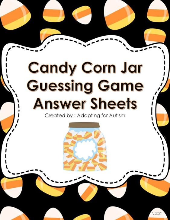 guessing games candy corn and candy on pinterest. Black Bedroom Furniture Sets. Home Design Ideas