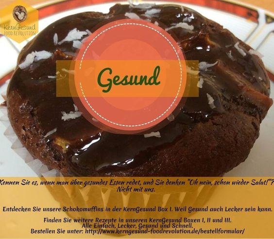 #Kerngesund #Rezepte #Rezeptboxen #gesund #schoko #muffin #Ernährung #vegetarian #vegan