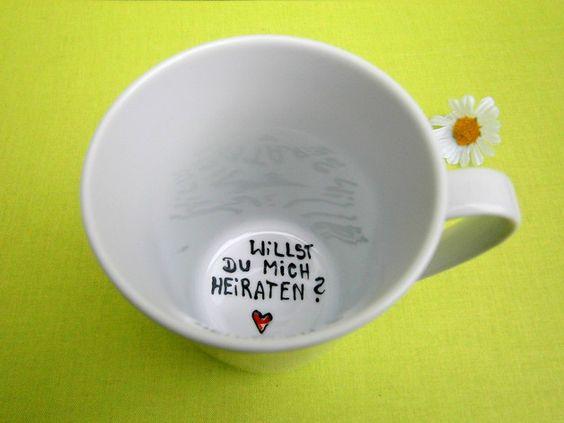 Weiteres - Willst du mich heiraten ? TASSE Verlobung Antrag - ein Designerstück von Hoch-Die-Tassen bei DaWanda