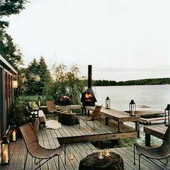 wooden deck. wahoo.