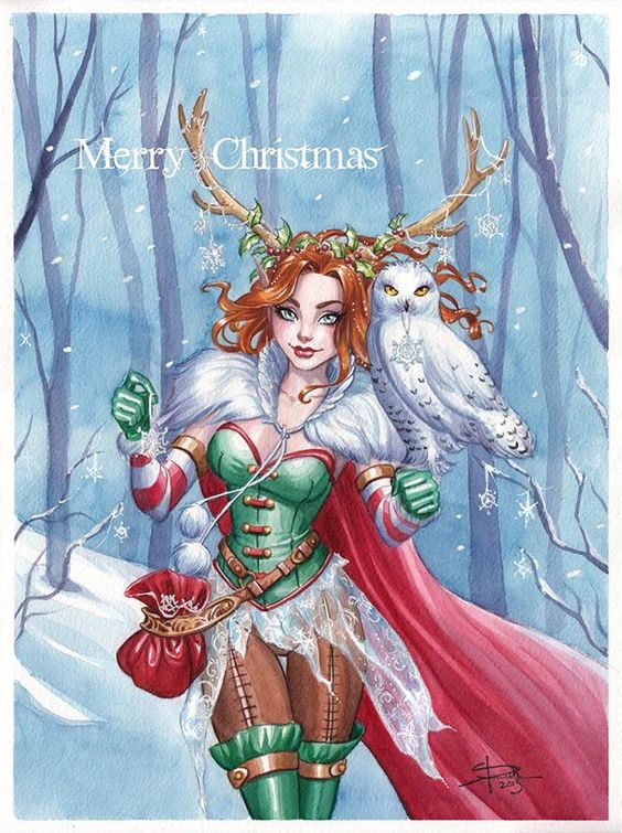 I know I'm a little late, but better late than never. I'm glad I found some time to do a watercolor for Christmas. I've also been wanting to do something with owls for a while and Christmas seems t...