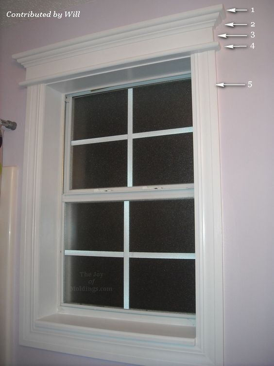 Window trims bathroom windows and moldings on pinterest for Colonial style trim
