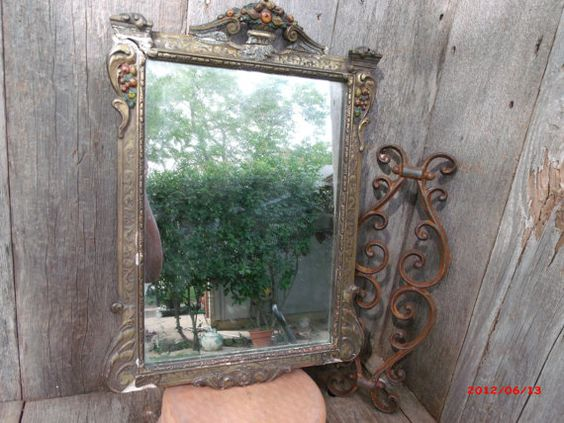 Antique Distressed Plaster Décor Wood Frame by TheRustyChicken, $79.95