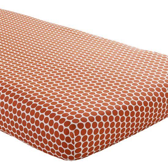 Orange dot crib sheet
