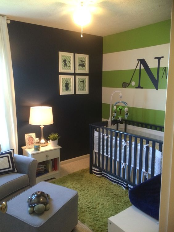 Nate's golf themed nursery!
