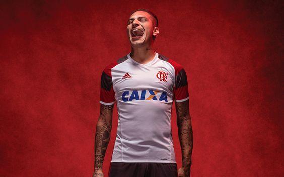 Camisa reserva do Flamengo 2016-2017 Adidas Guerrero
