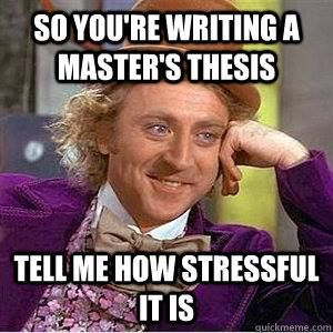 Writing my master's thesis