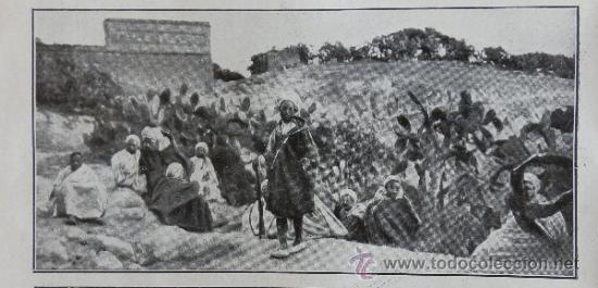 Campamento enemigo Guerra del Rif guerra de Marruecos 1912. Hoja Revista - Foto 2