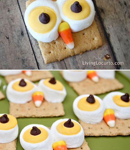Owl s'mores bring the Halloween spirit to this easy-to-make treat. Bring these snacks to an after-school party, and they'll be gone before you even walk through the door.