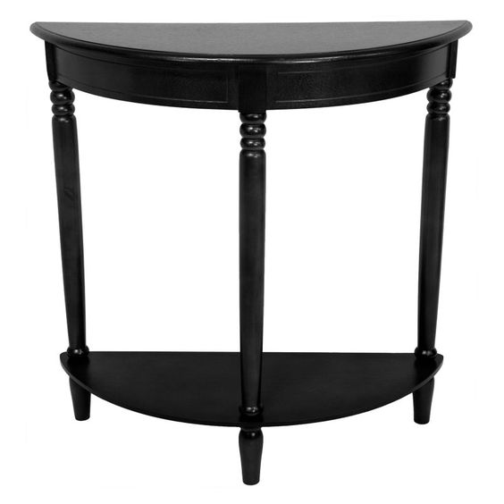 Oriental Furniture Crescent Console Table - XA-TABLE2-BLK