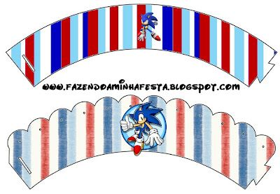 Making My Party!: Sonic - Complete Kit with frames for invitations, labels for goodies, souvenirs and pictures!