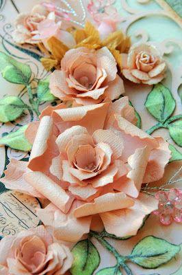 Tattered Florals die + Tattered Pinecone die - by lisa