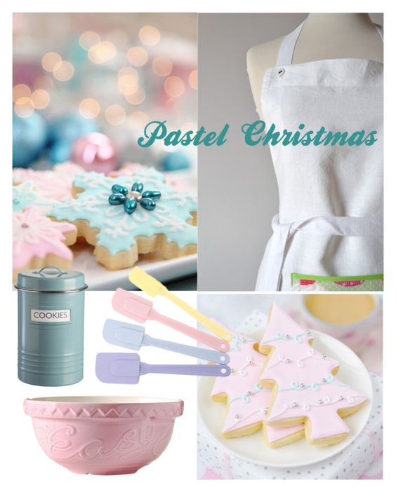 """""""pastel christmas"""" by redstitch on Polyvore featuring interior, interiors, interior design, home, home decor, interior decorating, Mason Cash, Typhoon, kitchen and Christmas"""