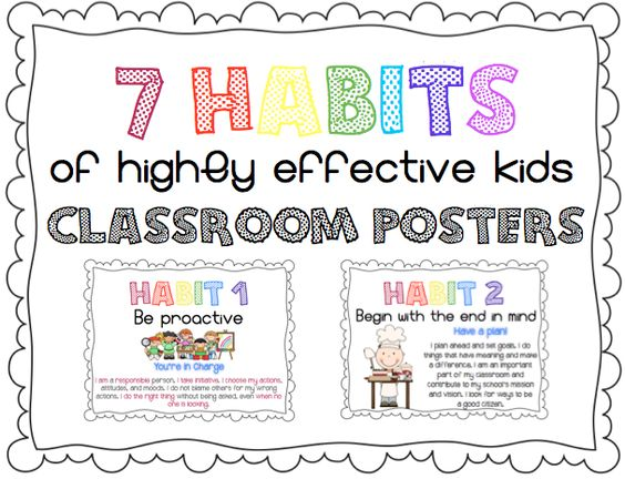 7 habits of highly effective kids. Leader in Me posters in kid ...
