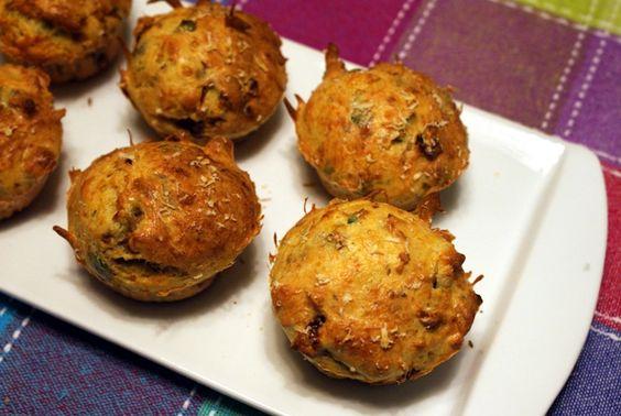 Mini-muffins de bacalhau