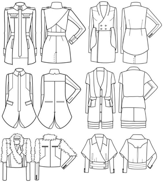 Clothing sketch by Eun Kim at Coroflot.com   DIBUJOS TECNICOS ...