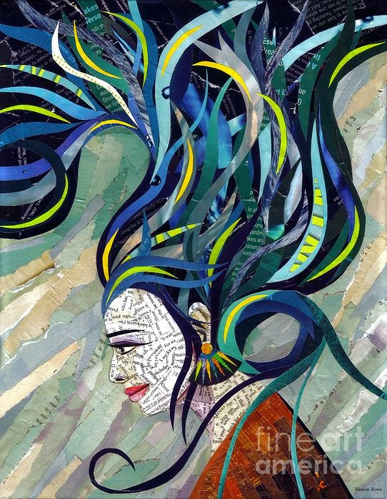 Matriarch by Shawna Rowe prints starting at $27.00 #collage #artwork #portrait