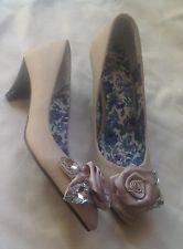 Zanotti vioia woman's tan floral dress party evening  wedding heel shoes size 36