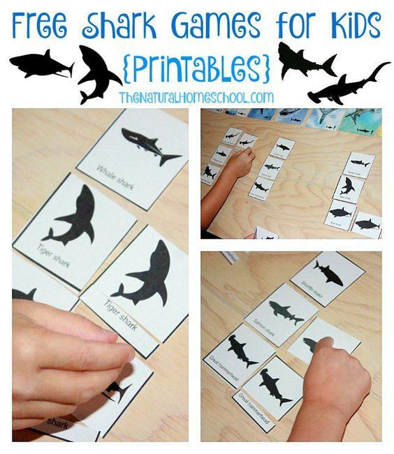 Free Shark Games for Kids {Printables}