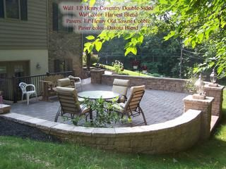 Patio design ideas on a budget custom paver patios with for Patio ideas with fire pit on a budget
