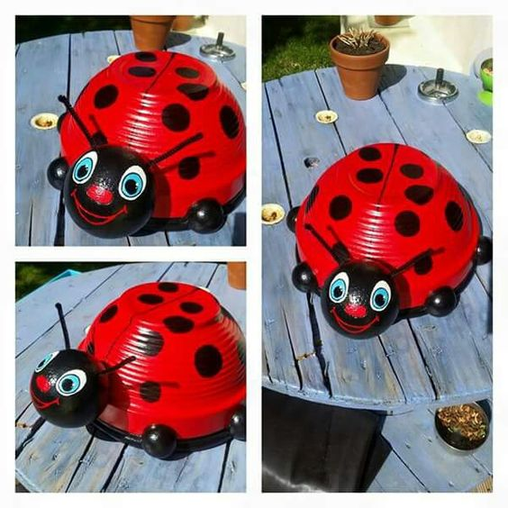 yards clay and ladybugs on pinterest. Black Bedroom Furniture Sets. Home Design Ideas