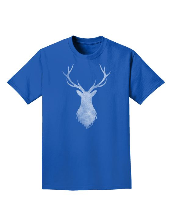 TooLoud Majestic Stag Distressed Adult Dark T-Shirt