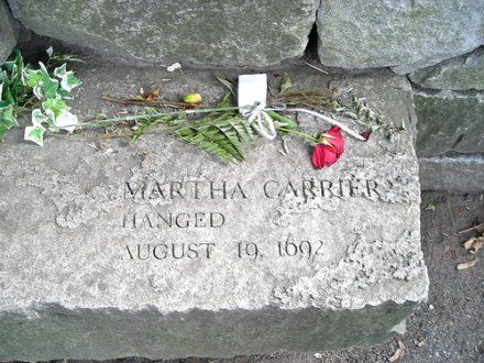 salem witch trials victims - My eighth great grandmother, Martha Allen Carrier.