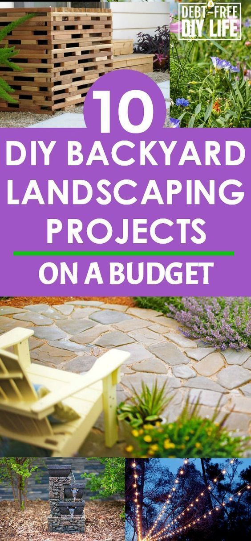 Backyard Landscaping On A Budget Backyard Landscaping Ideas Backyard Tips Frugal Landscape Pr Diy Backyard Landscaping Landscape Projects Budget Backyard
