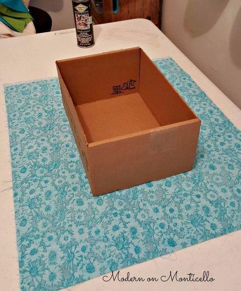 Fabric Covered Storage Boxes Cajas Forradas Cajas Decoradas