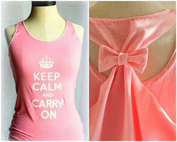 Keep Calm and Carry on Pink Tank