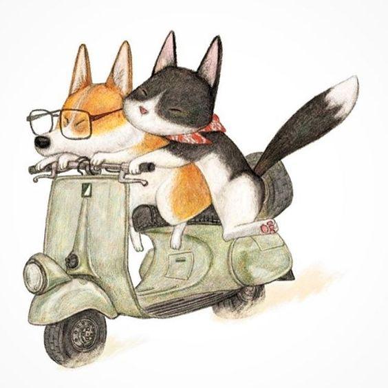 #painting #drawing #illustration #artwork #dog #cat #그림 #일러스트 #강아지 #고양이 #인스타일러스트 #아트스타그램 #인스타드로잉 #꿀밤 #그림쟁이 #동물인스타그램 #낙서 #draw #드로잉  #art_gallery #図 #イラスト #図面 #犬 #猫 #Inu #neko: