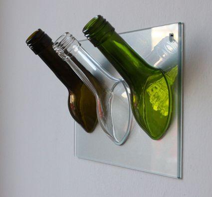 Sybille_Homann_Glas_Handtuchhalter_buntGlasschale aus Weinflasche