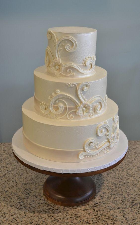 Buttercream Wedding Cake Swirls And Wedding Cakes On Pinterest
