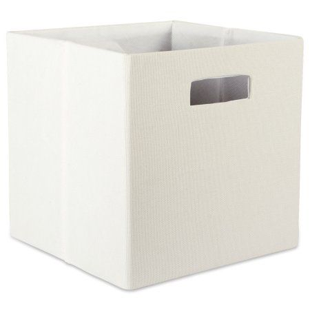 Design Imports Polyester Cube Solid Off White Square 11 Inchx11 Inchx11 Inch 100 Polyester White Size 11 Inch Cube Storage Storage Bins Storage
