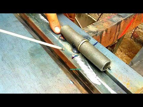 الجزء الأخير كيفية تركيب مفصلات النرمادة باب الحديدي The Final Part Of The Iron Door Making Series Youtube Tableware