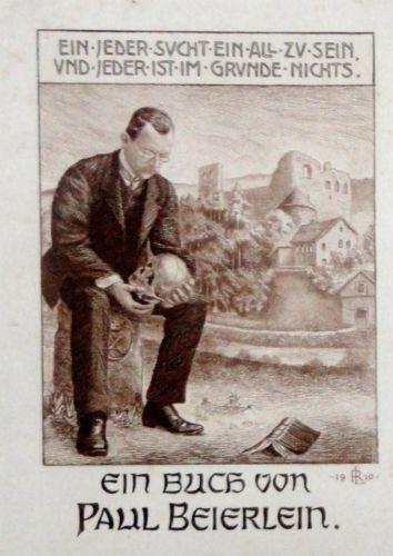 """"""" RIFLESSIONE / TOD """" -ROBERT LANGBEIN * - CALCO!DEL 1910"""
