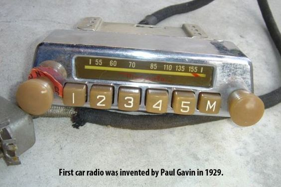 First #car #radio was invented by Paul Gavin in 1929. #interesting #fact: