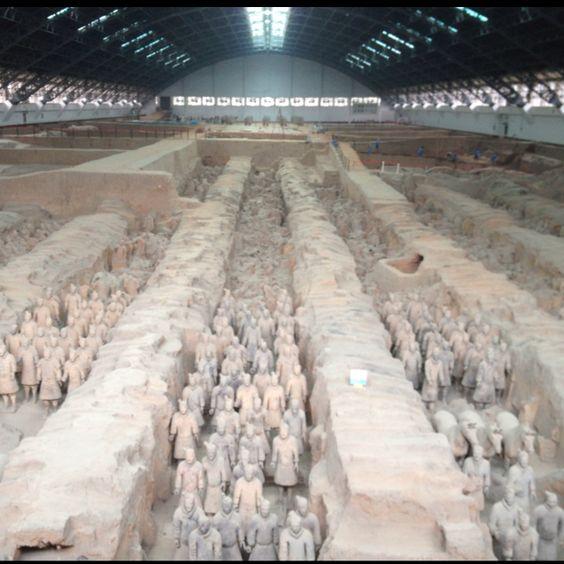 Terra cotta warriors in Xi'an #china #unesco
