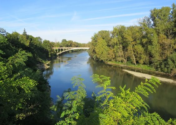 Pont sur la Garonne à Saint Julien.