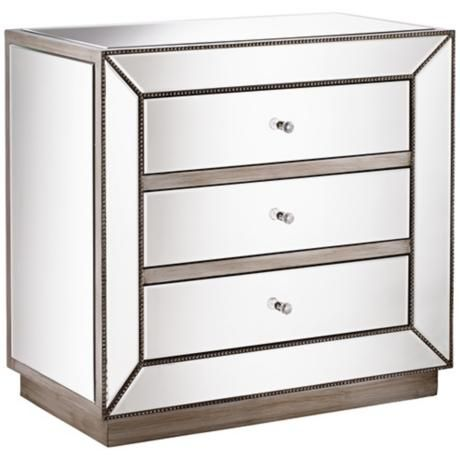 liza 3 drawer mirrored accent chest 2