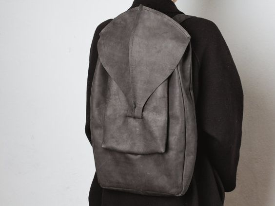 Leather backpack 15%DISCOUNT // black leather by circumambulation #Leather #backpack #dark #black #leather #circumambulation #dark #minimal #design #CircumambulationBags #minimalizm #rucksack #unisex