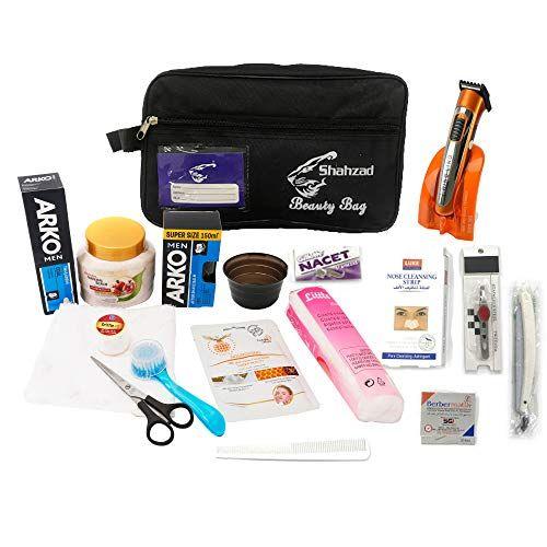 شنطة أدوات حلاقة وتشذيب اللحية الإحترافية للرجال 18 قطعة من دانجلينج Beauty Bag Bags Camera Bag