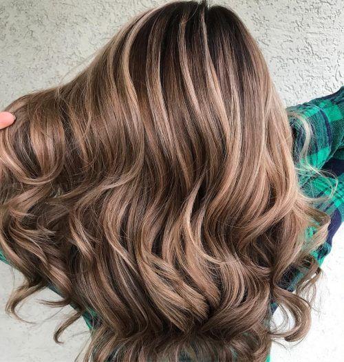 Picture Of A Caramel Cream Dimensional Balayage Caramel Brown Balayage Hair Brunette Hair Color Brown Hair Balayage